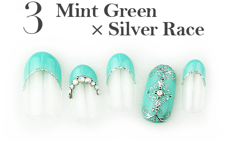 3.Mint Green x Silver Lace