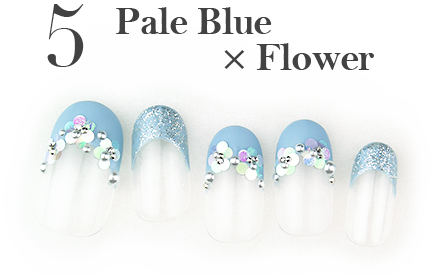 5.Pale Blue × Flower